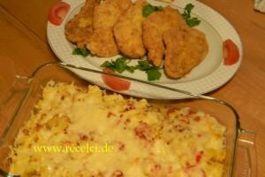 Tavuk Snitzel ve Firinda Patates